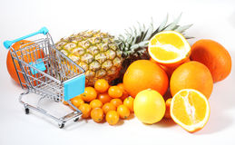 Shopping for fruits 3 Stock Photos