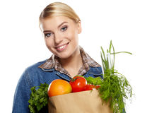 Shopping for fruits and vegetables Royalty Free Stock Photography