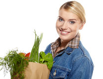 Shopping for fruits and vegetables Royalty Free Stock Photo