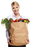 Shopping for fruits and vegetables Royalty Free Stock Images