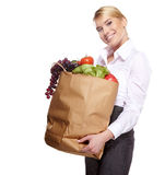 Shopping for fruits and vegetables Stock Images