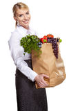 Shopping for fruits and vegetables Royalty Free Stock Photos