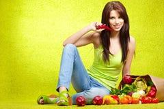 Shopping for fruits & veggies Royalty Free Stock Photo