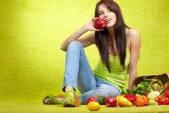 Shopping for fruits & veggies Royalty Free Stock Image