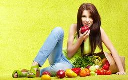 Shopping for fruits & veggies Stock Photos