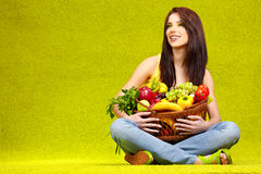 Shopping for fruits & veggies Royalty Free Stock Photos