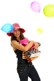 Shopping and fun Stock Images