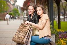 Shopping fun. Royalty Free Stock Images