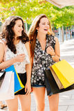 Shopping and fun Royalty Free Stock Photos