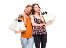 Shopping fun. Royalty Free Stock Image
