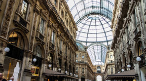 Shopping in Galleria Vittorio Stock Images