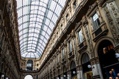 Shopping in Galleria Vittorio Royalty Free Stock Photography
