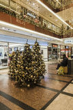 Shopping gallery at Christmas time. Stock Images