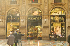 Shopping gallery in Milan Royalty Free Stock Photos