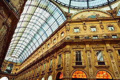 Shopping gallery in Milan Royalty Free Stock Image