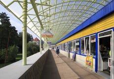 Shopping gallery at the resort Belokuriha Royalty Free Stock Photography