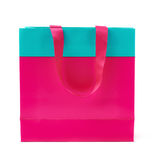 Shopping or gift bag isolated over the white background Stock Photo