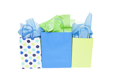 Shopping Gift Bags. On white stock image