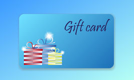 Shopping  gift card Stock Images