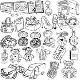 Shopping gift sketch Royalty Free Stock Photos