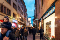 Shopping for gifts during Christmas Royalty Free Stock Photography