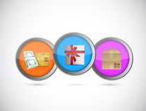 Shopping gifts purchase concept illustration Royalty Free Stock Images