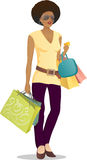 Shopping girl 1 Royalty Free Stock Photography