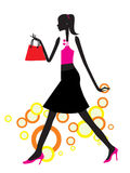 Shopping girl Stock Image