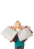 Shopping girl Stock Image