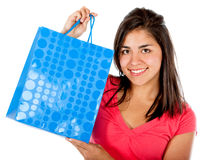 Shopping girl Stock Images