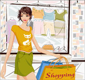 Shopping girl Royalty Free Stock Photos