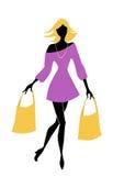 shopping girl Royalty Free Stock Photos