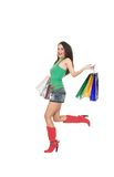 Shopping_girl Immagine Stock