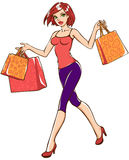 Shopping girl Royalty Free Stock Photography