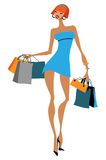 Shopping girl Royalty Free Stock Photo