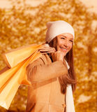 Shopping girl Stock Photography