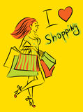 Shopping  girl Royalty Free Stock Image
