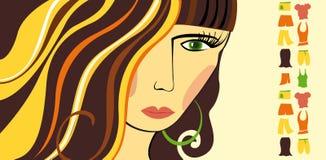 Shopping girl. Woman, clothes, fashion Stock Photography