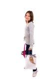 Shopping girl stock photography