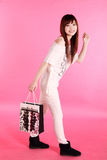 Shopping girl. Royalty Free Stock Photography
