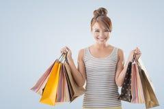 Shopping girl Royalty Free Stock Image