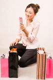 Shopping girl with bags Royalty Free Stock Photos