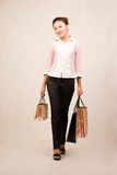 Shopping girl with bags Stock Photo