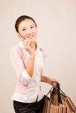 Shopping girl with bags Stock Photos