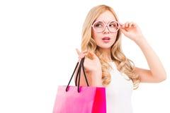 Shopping girl. Royalty Free Stock Photos