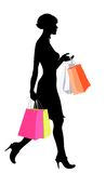 Shopping_girl_black Royalty Free Stock Photography