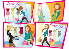Shopping girl  day Stock Photo