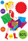 Shopping Girl_eps Stock Image