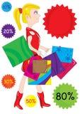 Shopping Girl_eps stock illustration