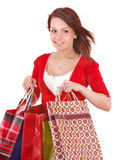 Shopping girl with group bag. Royalty Free Stock Photos